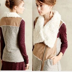 Faux Fur Sherpa Anthropologie Vest